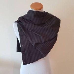 NWT Lululemon Vinyasa Scarf Wrap Black + Charcoal